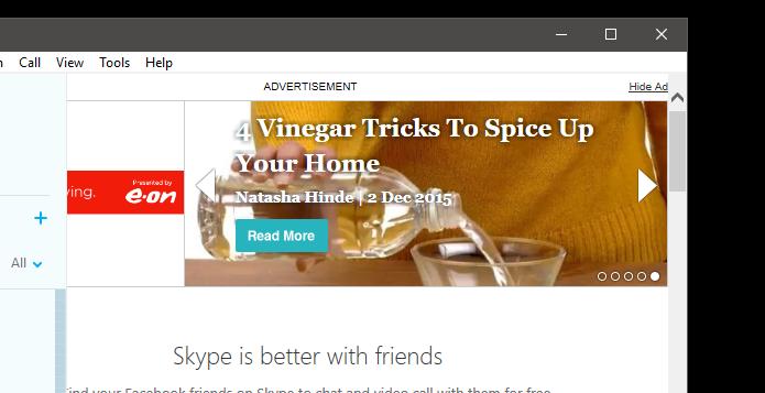 Ads Skype
