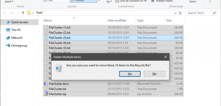 how to delete hex renamed files