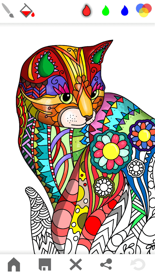 Mandala Adults Coloring Book Scrn