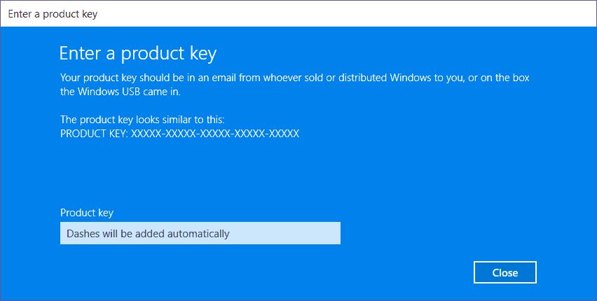 product key lost