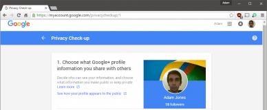 Privacy Check-up Google+