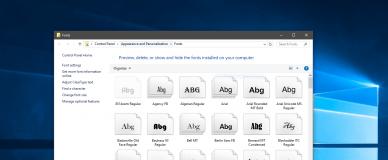 Windows 10 Fonts
