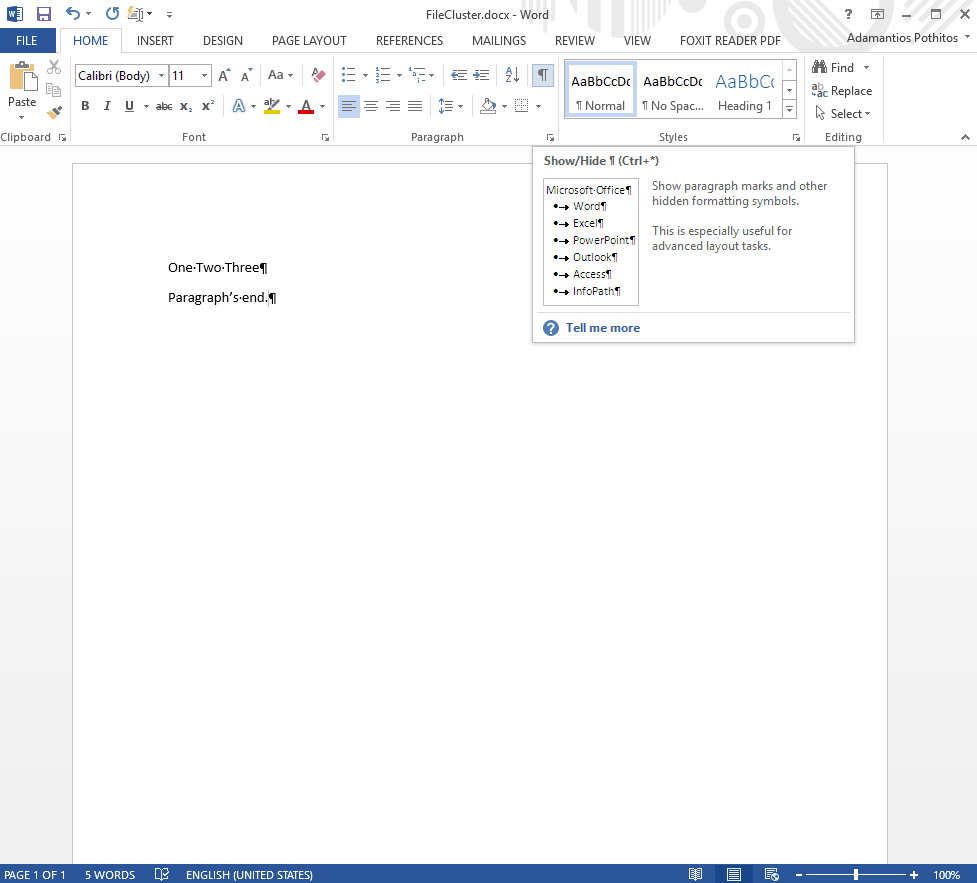 Word Paragraph Mark Icon