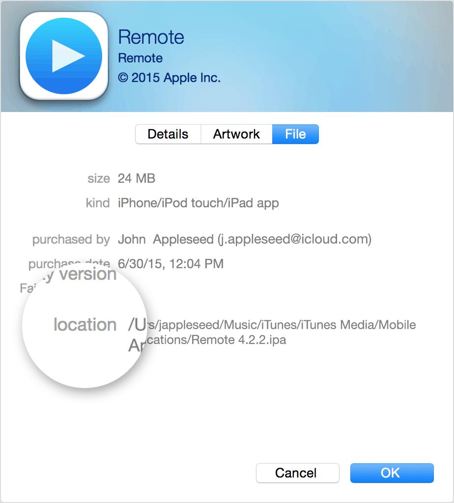 iTunes Track Location