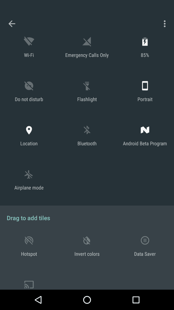 quick toggles more