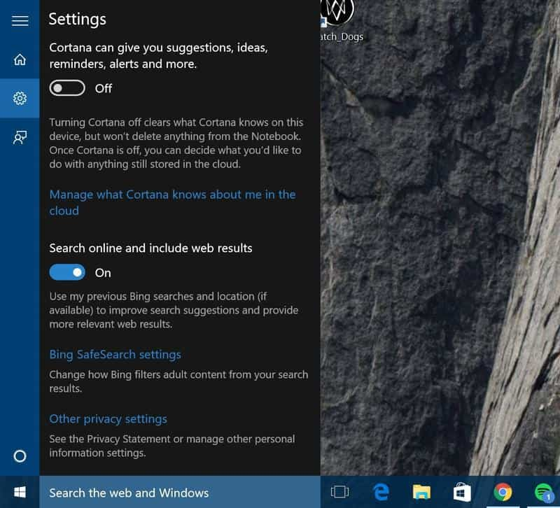Easily disable Cortana in Windows 10
