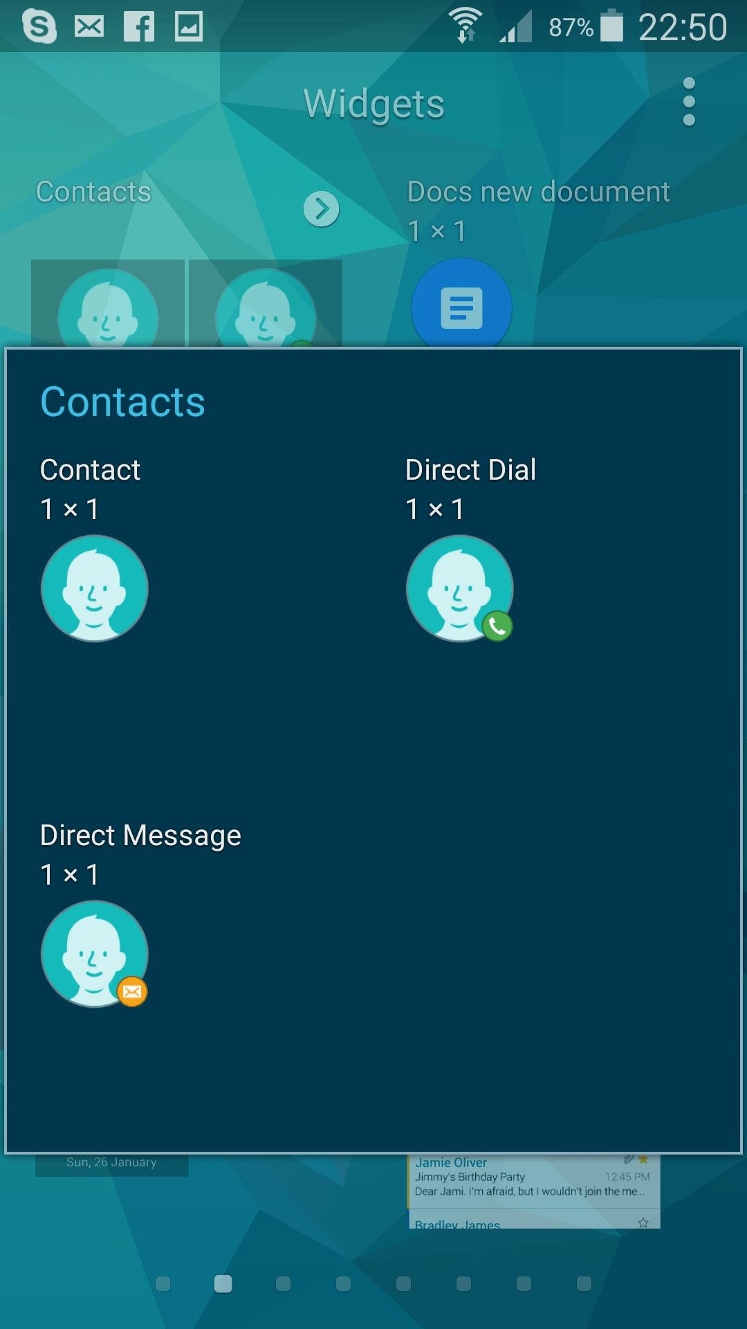Use contact widgets