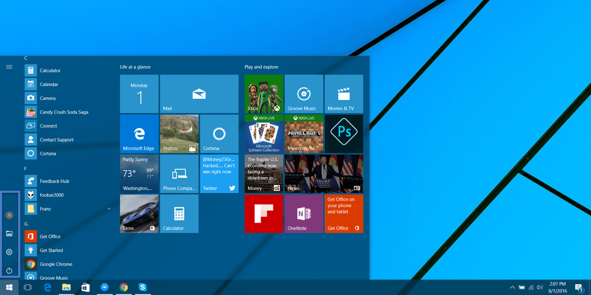 Did you know you can customize the start menu folders in windows 10