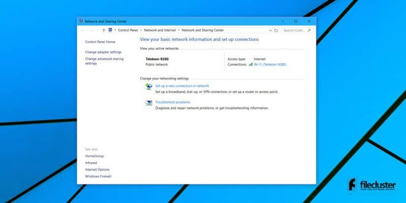 how to change network profile windows 10