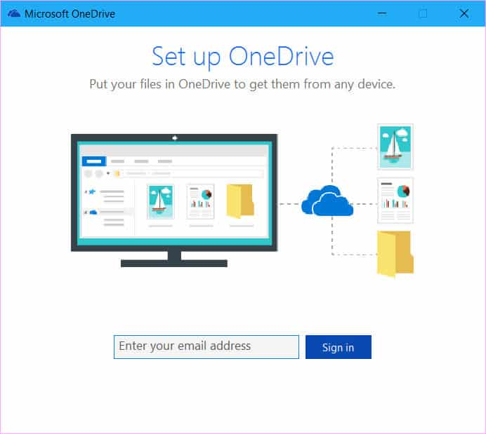 disable OneDrive in Windows 10