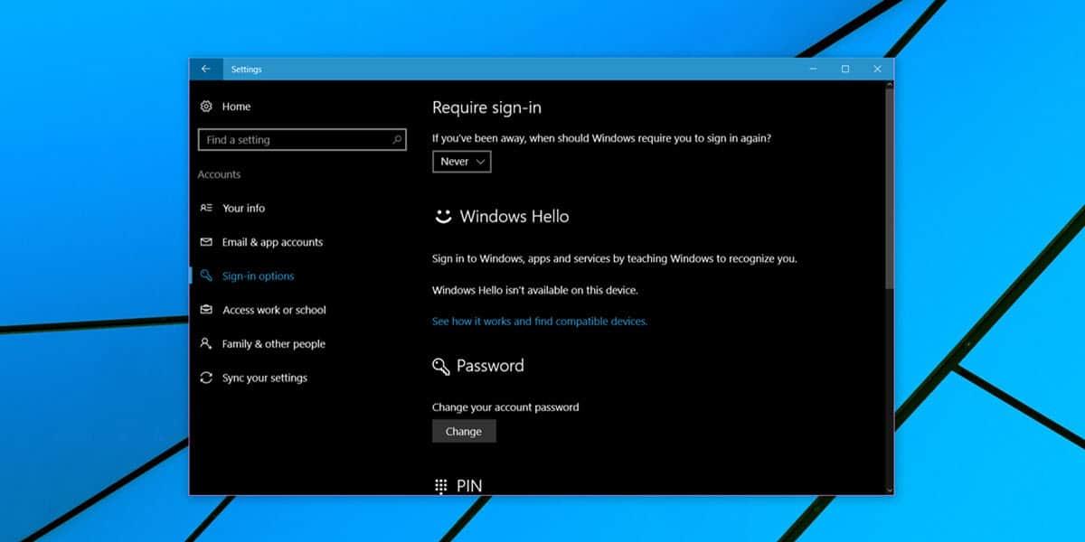 how to change password in windows 10 login