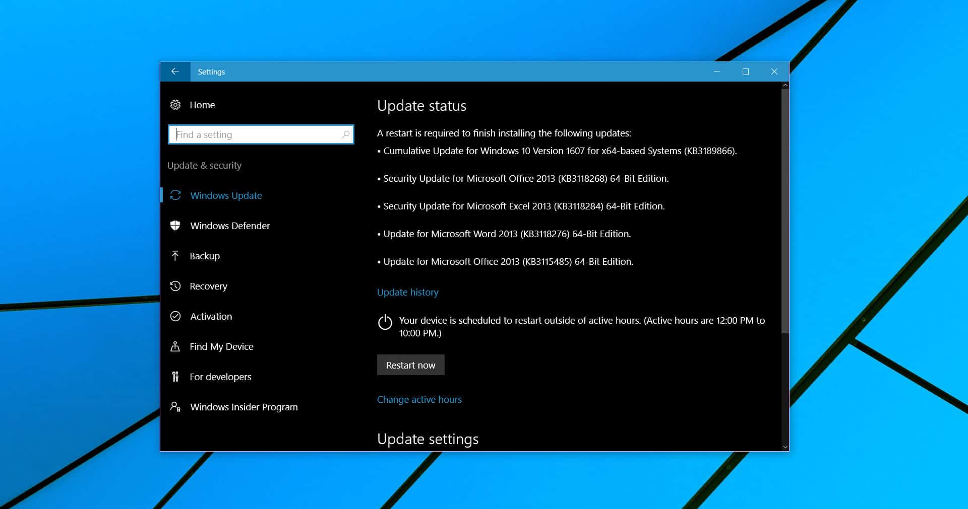 how to stop windows 10 fall update
