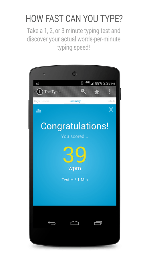 Find out how fast you can type on your smartphone with Typist