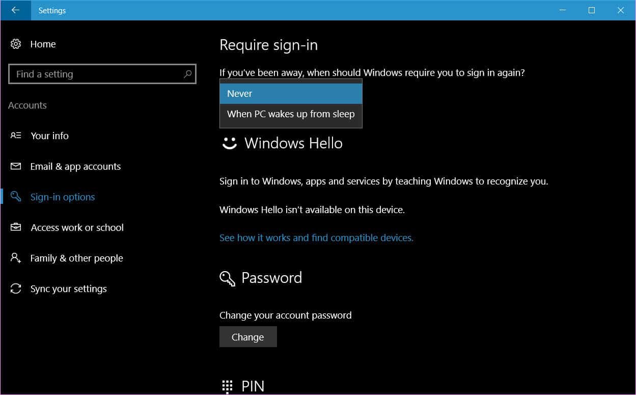 [Guide] Disable sleep password in Windows 10