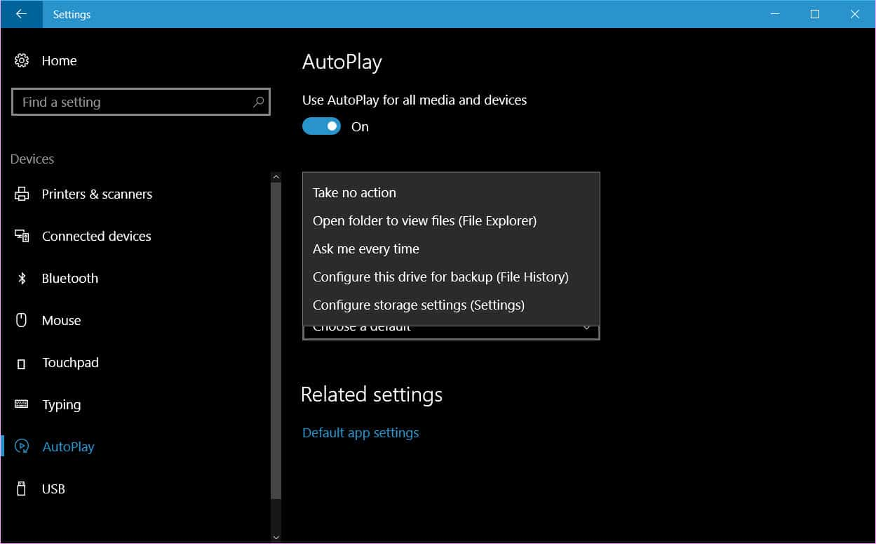how to start autoplay on windows 10