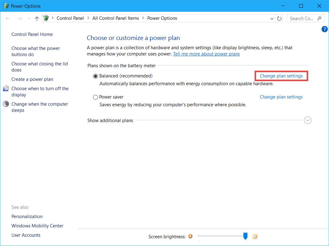 how to change screen brightness on windows xp