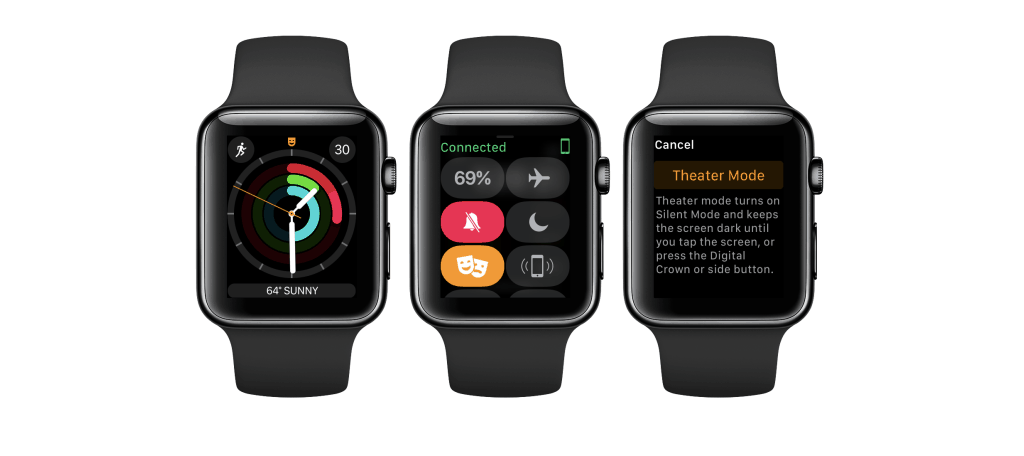 enable Theater Mode on Apple Watch