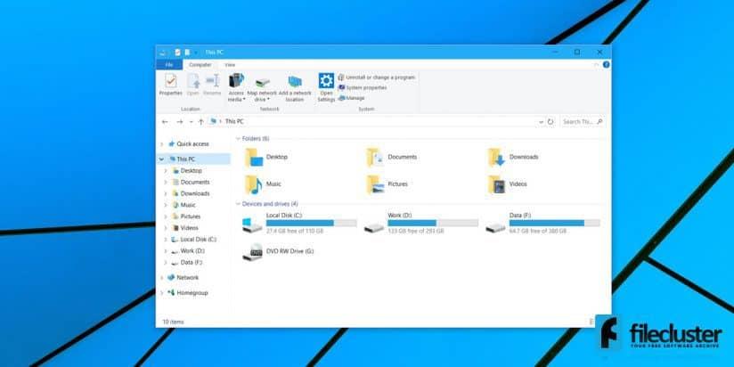 10 on default download windows