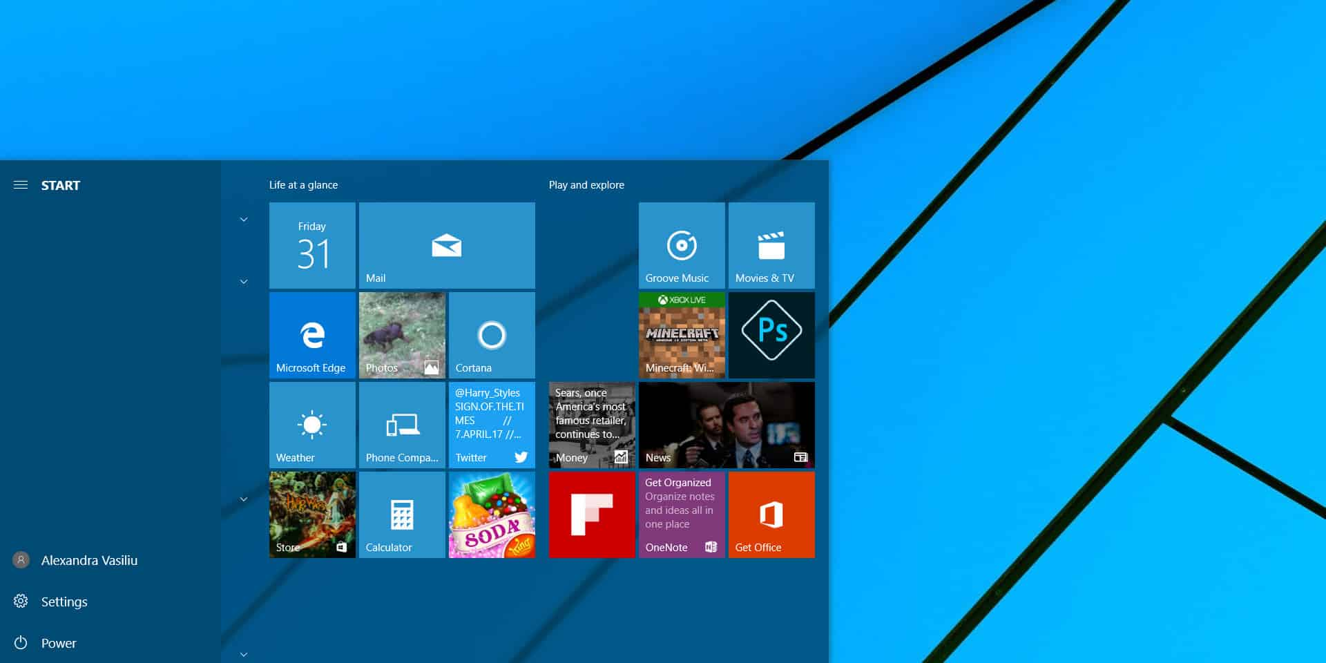 how to change startup screen windows 10