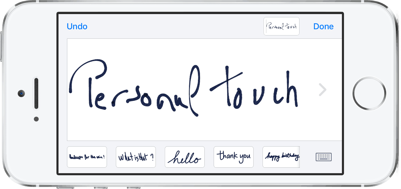 Ios notes handwriting