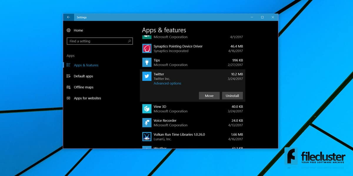 how to  move apps to another drive in windows 10