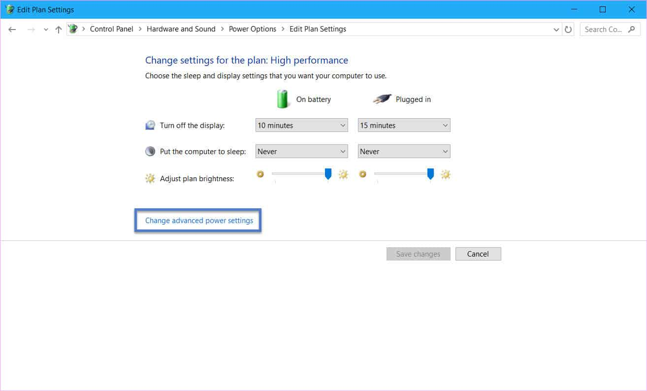 set up the Power button to turn off the display in Windows 10
