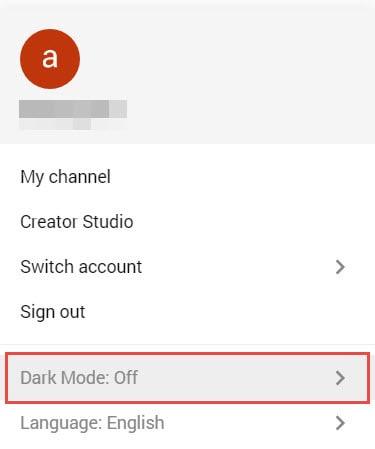 enable YouTube's Dark Mode on Google Chrome