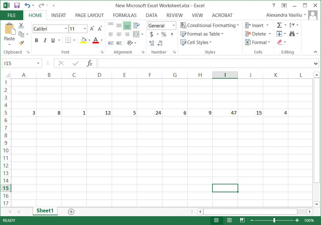 sort data in rows in Excel