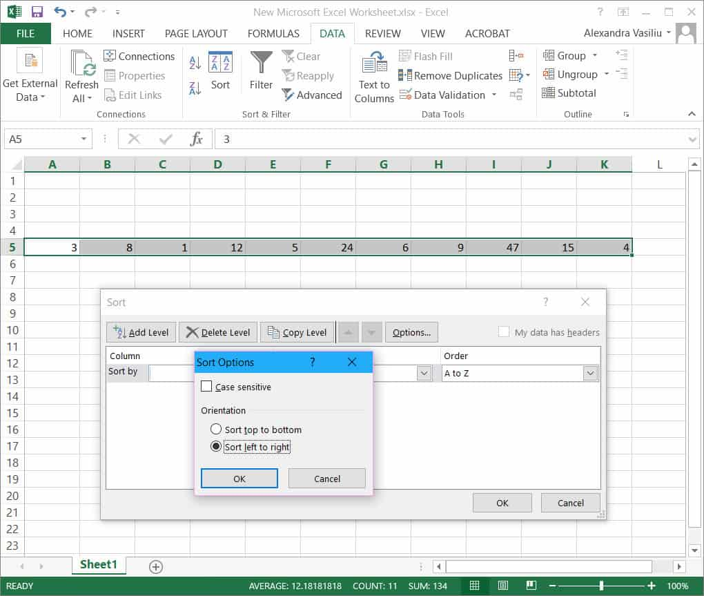Sort by date in excel in Sydney