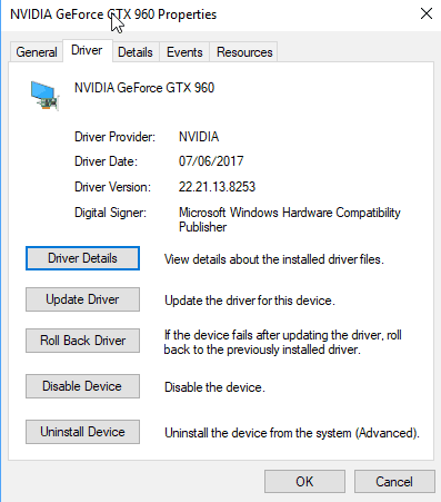 install Nvidia graphics card driver without components