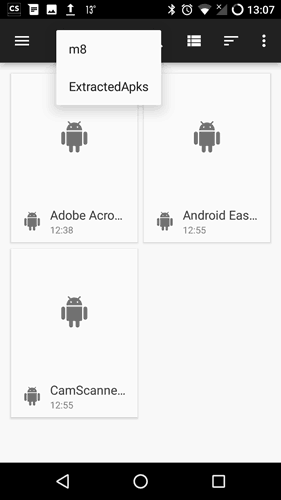 share an app via Bluetooth on Android