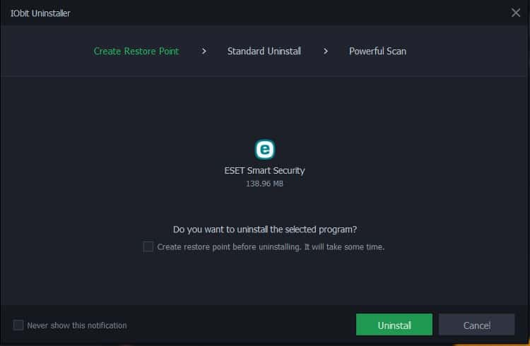 uninstall ESET NOD 32 and Smart Security from Windows 10