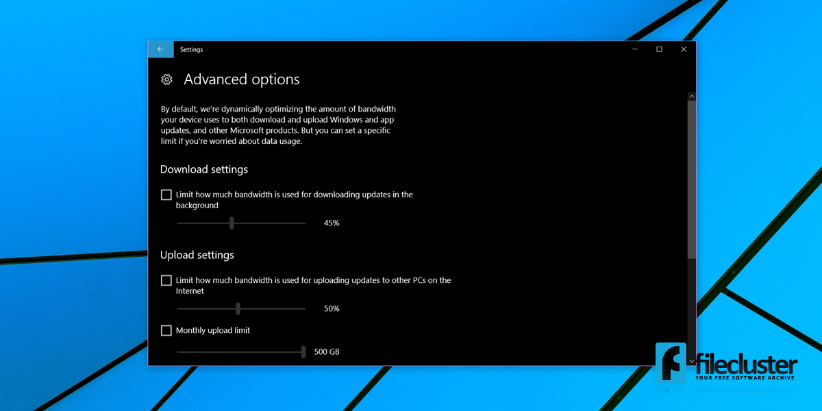 how to set bandwith connection priority on windows 10