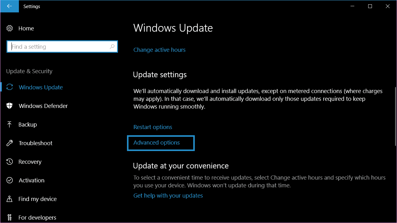 Control the bandwidth used for updates in Windows 10