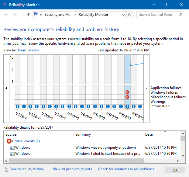discover Windows PC crash cause
