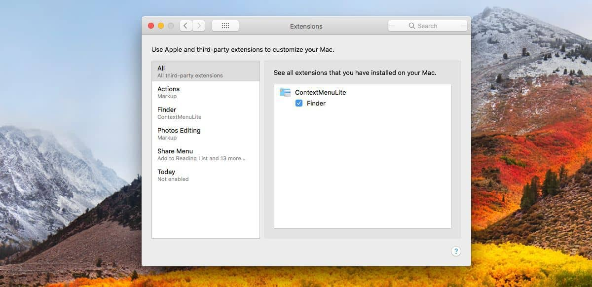 add 'Open With' option to the context menu for any app in macOS