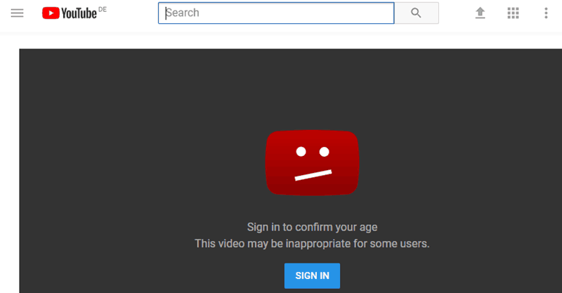 How to bypass YouTube's age restriction without signing in