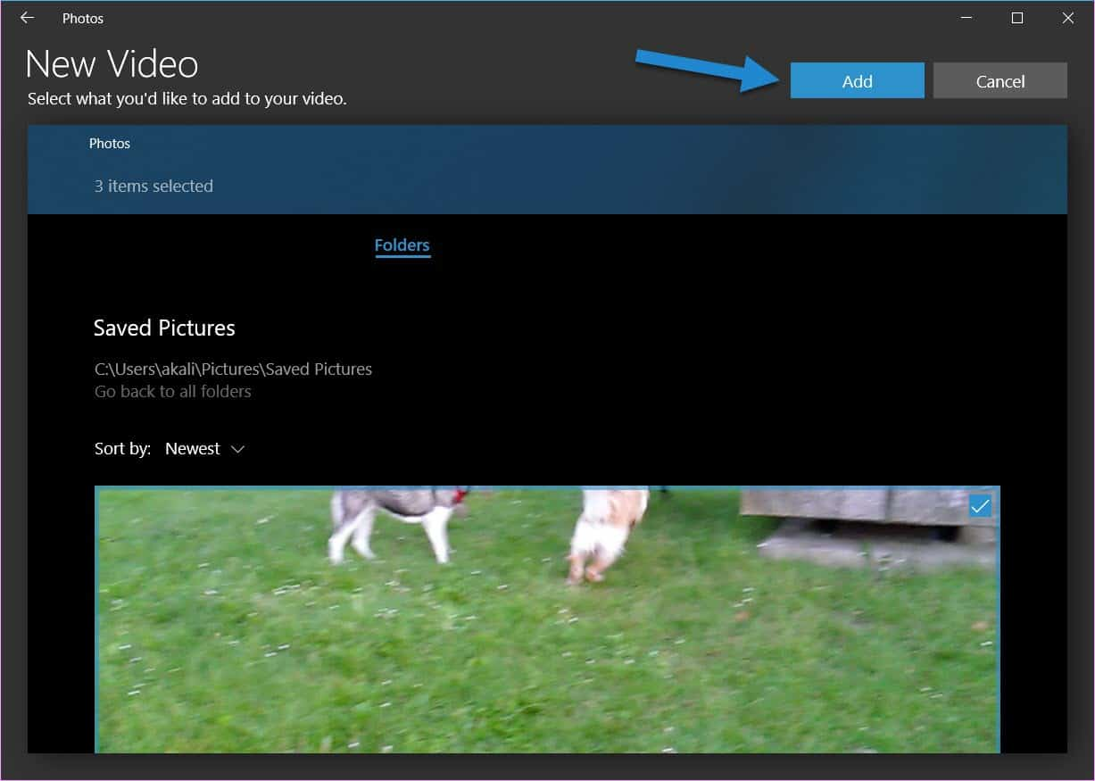 merge videos in Windows 10 without third-party tools