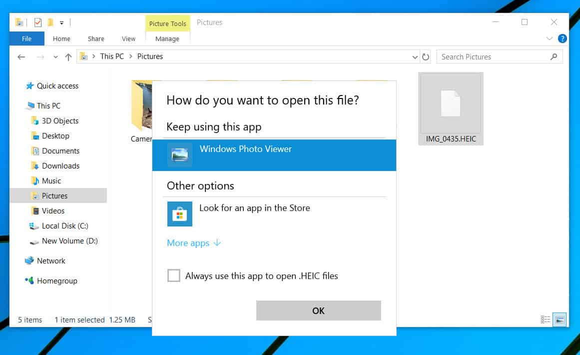 How to view HEIC images on Windows 10