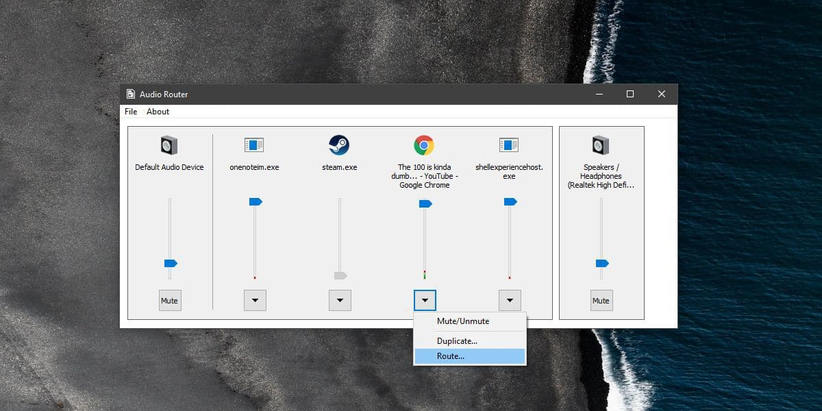 how to set up multiple audio outputs windows 10