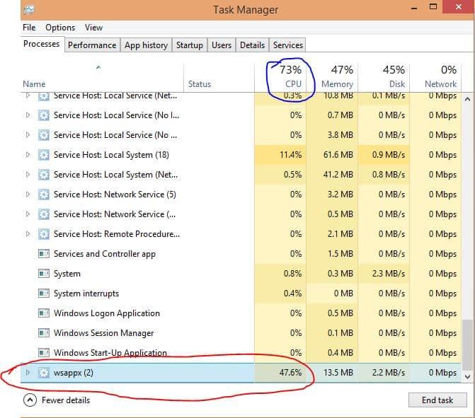 fix 100% disk usage in Windows 10