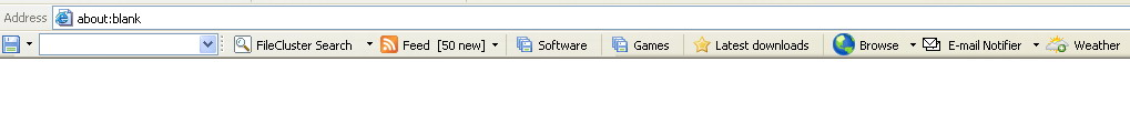 Toolbar used to search for software downloads from within your browser.