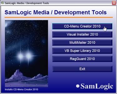 SamLogic CD-Menu Creator Screenshot