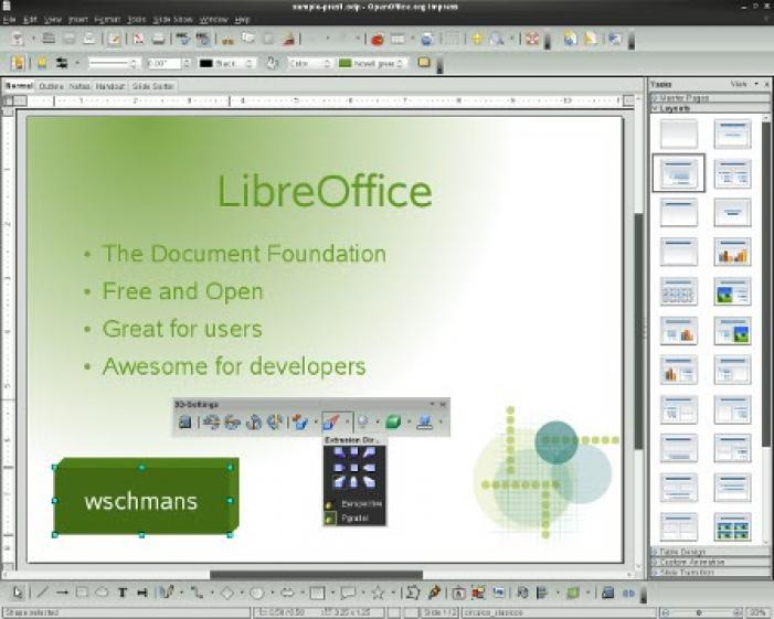 LibreOffice nyíltforrású irodai alkalmazáscsomag fejlesztése