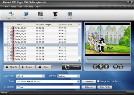 Nidesoft DVD Ripper Suite Screenshot