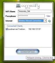 Connectify Hotspot Screenshot