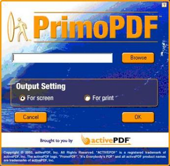 PrimoPDF Screenshot