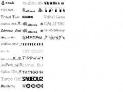 tattoo Font Pack Screenshot