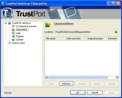 TrustPort Antivirus USB Edition Screenshot
