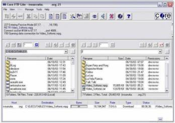 Core FTP LE (formerly Core FTP Lite) Screenshot